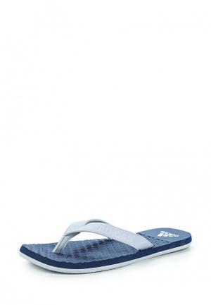Сланцы adidas. Цвет: голубой