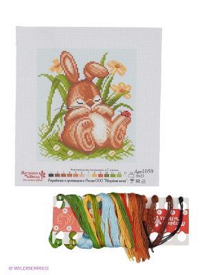 Набор для вышивания Спящий кролик Матренин Посад. Цвет: коричневый, зеленый