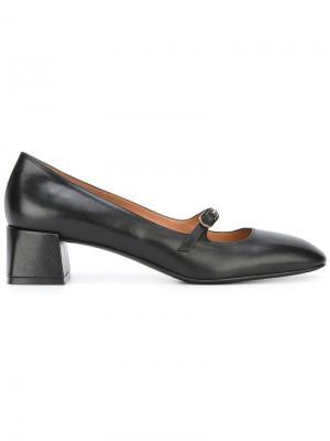 Туфли-лодочки с квадратным носком Fratelli Rossetti. Цвет: чёрный