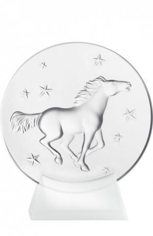 Пресс-папье Kazak Horse Lalique. Цвет: бесцветный
