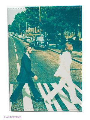 Обложка для паспорта Abbey road Mitya Veselkov. Цвет: серо-зеленый, белый
