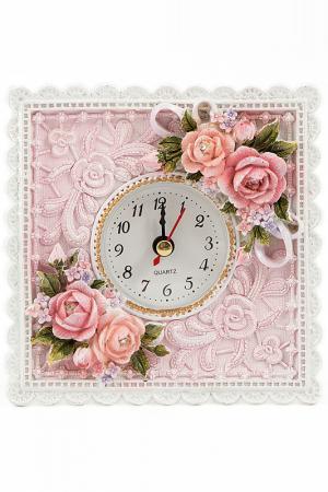 Часы настольные Русские подарки. Цвет: розовый, белый