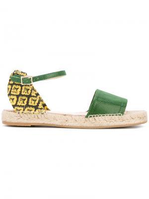 Pineapple sandals Charlotte Olympia. Цвет: зелёный