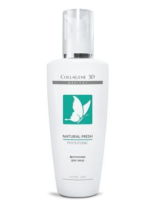 Фитотоник Natural fresh 250 мл Medical Collagene 3D. Цвет: белый, зеленый
