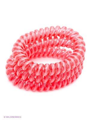 Резинка пружинка Bizon. Цвет: коралловый