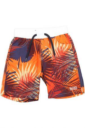 Плавательные шорты Hugo Boss. Цвет: оранжевый