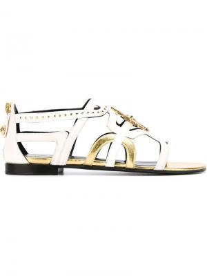 Декорированные сандалии Fausto Puglisi. Цвет: телесный