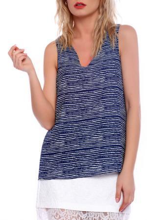 Блузка Emma Monti. Цвет: blue and white