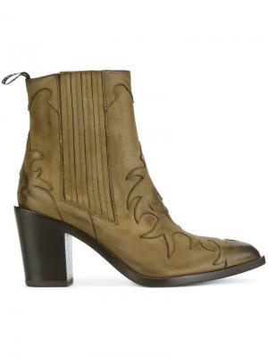 Ботинки в стиле вестерн Sartore. Цвет: зелёный