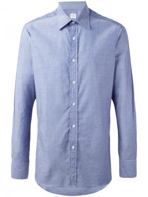 Классическая рубашка E. Tautz. Цвет: синий