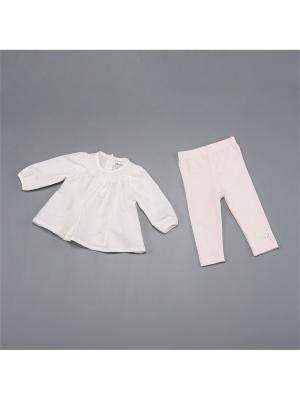 Комплект BABALUNO. Цвет: кремовый, розовый