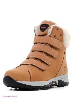 Ботинки Ascot. Цвет: светло-коричневый