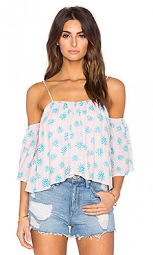 Топ flores Tori Praver Swimwear. Цвет: розовый