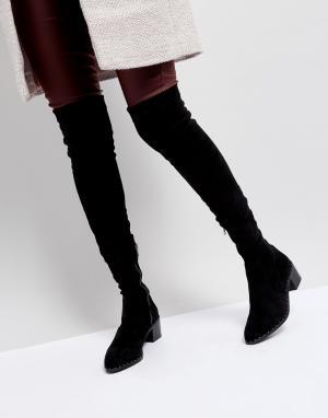 Sol Sana Черные ботфорты с заклепками Bianca. Цвет: черный