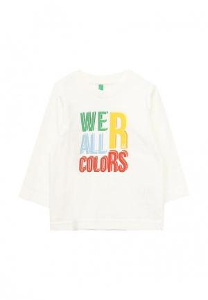 Лонгслив United Colors of Benetton. Цвет: белый