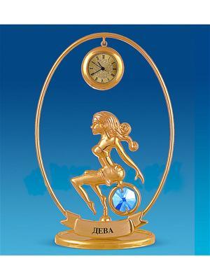 Фигурка с часами Знак Зодиака - Дева (Юнион) Юнион. Цвет: золотистый