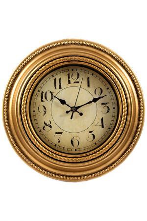 Часы настенные 30х30х5 см Русские подарки. Цвет: коричневый, белый