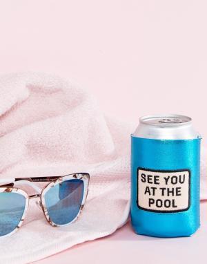 BAN DO Чехлы для напитков с надписью Too Chill to Spill BAN.DO. Цвет: мульти