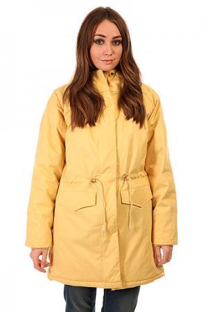 Куртка парка женская  Ws 15 Sand Today. Цвет: желтый