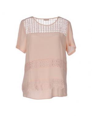 Блузка CASHMERE COMPANY. Цвет: телесный