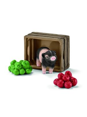 Набор Мини-свинья, яблоки SCHLEICH. Цвет: черный, зеленый, красный
