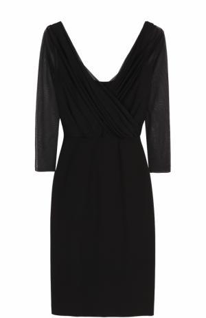 Платье с полупрозрачным драпированным лифом Emilio Pucci. Цвет: черный