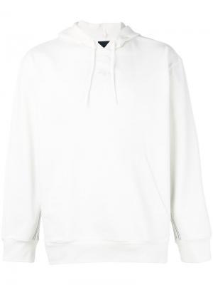 Толстовка с логотипом и капюшоном Adidas Originals By Alexander Wang. Цвет: белый