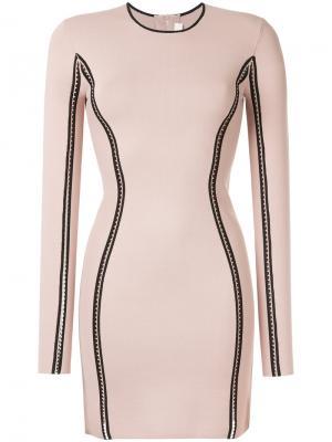 Облегающее платье с длинными рукавами Dion Lee. Цвет: розовый и фиолетовый
