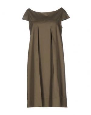 Короткое платье METRADAMO. Цвет: зеленый-милитари