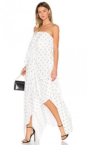 Макси платье oxford Acler. Цвет: белый