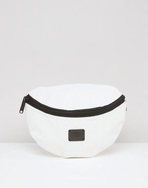 Spiral Белая сумка-кошелек на пояс с перфорацией. Цвет: белый