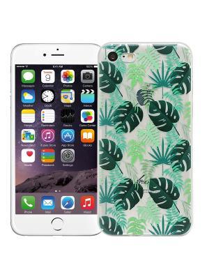Чехол для iPhone 7 Листья Kawaii Factory. Цвет: зеленый, белый