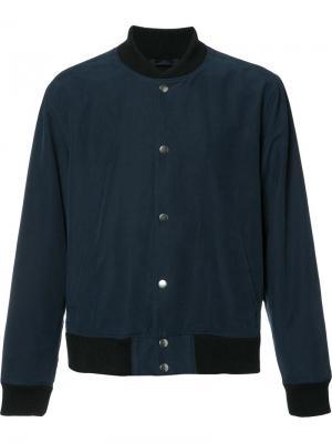 Куртка-бомбер на пуговицах Paige. Цвет: синий