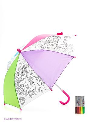 Зонтик для раскрашивания Королевские питомцы Чудо-творчество. Цвет: розовый, зеленый, сиреневый