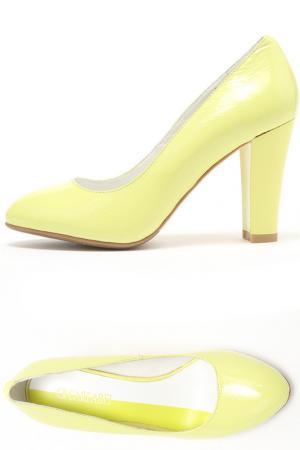 Туфли Carlabei. Цвет: желтый