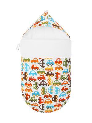Конверт для новорождённого Берегись автомобиля! MIKKIMAMA. Цвет: белый, зеленый, коричневый, голубой, красный, оранжевый