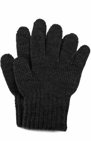 Вязаные перчатки Catya. Цвет: черный