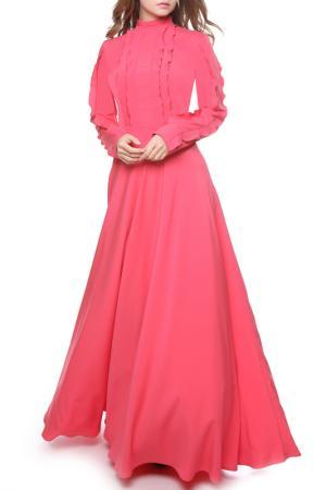 Платье MARICHUELL. Цвет: лососевый