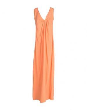 Длинное платье 1-ONE. Цвет: лососево-розовый