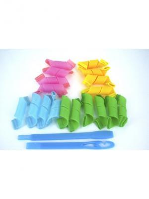 Magic Leverage Бигуди Маленькие 15см, 18 шт. Цвет: зеленый, голубой, розовый