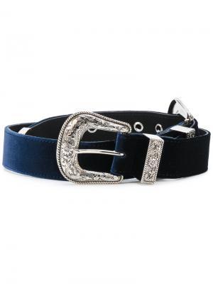 Ремень в ковбойском стиле B-Low The Belt. Цвет: синий