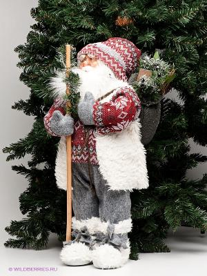 Игрушка Дед мороз большой с елкой MAXITOYS. Цвет: серый, красный, белый