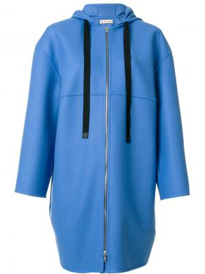Пальто на молнии Marni. Цвет: синий