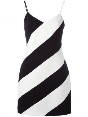 Платье в полоску David Koma. Цвет: чёрный