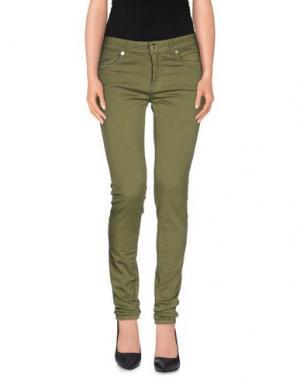 Повседневные брюки CRISTINAEFFE. Цвет: зеленый-милитари