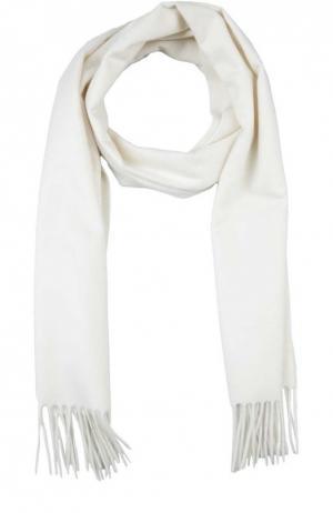 Кашемировый шарф с бахромой Colombo. Цвет: белый