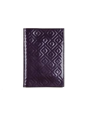 Обложка для паспорта РФ мягкая Zinger. Цвет: темно-фиолетовый