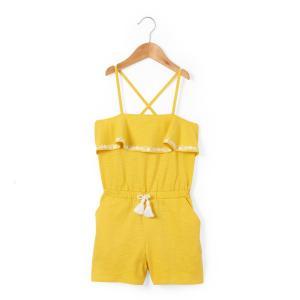 Комбинезон с шортами, 3-12 лет La Redoute Collections. Цвет: темно-желтый