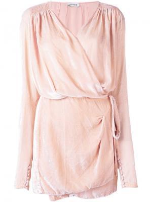 Драпированное платье с запахом Attico. Цвет: розовый и фиолетовый