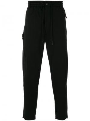 Спортивные брюки с эластичным поясом Y-3. Цвет: чёрный